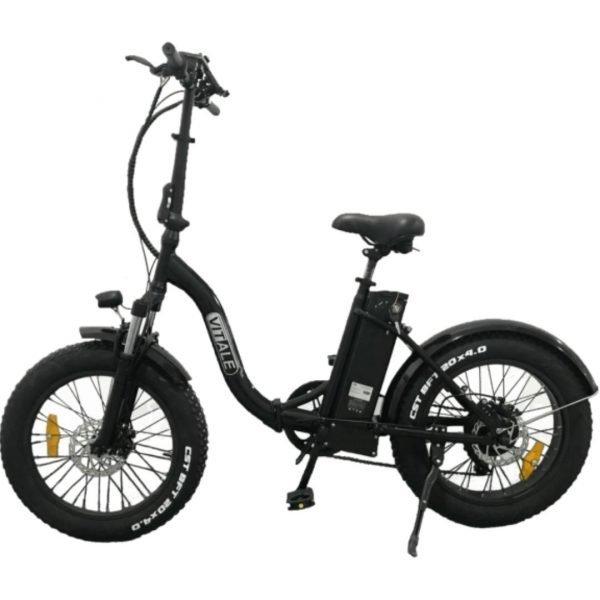 fat-bike-elettrica-pieghevole-telaio-curvo-nero