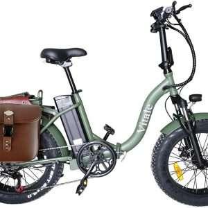 Fat bike elettrica pieghevole telaio curvo
