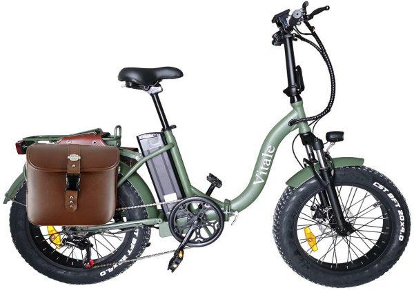 fat-bike-elettrica-pieghevole-telaio-curvo-verde