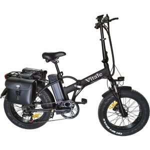 Fat bike elettrica pieghevole telaio dritto