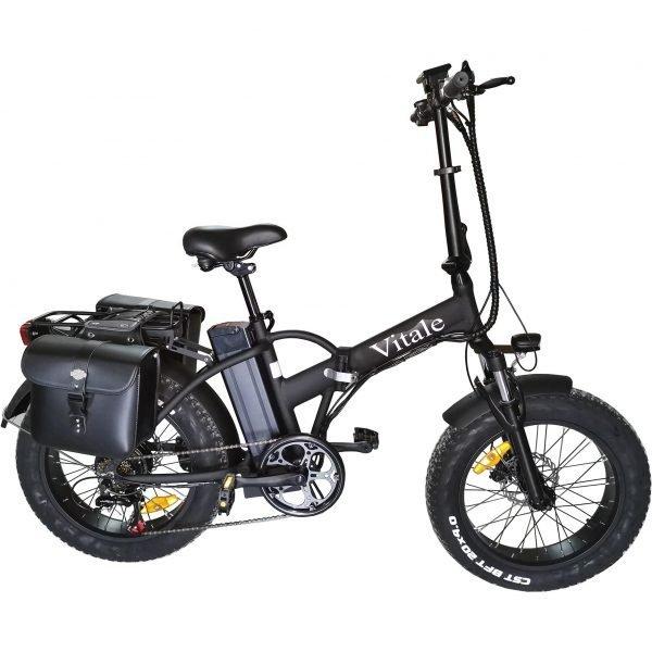 fat-bike-elettrica-pieghevole-telaio-dritto-nero